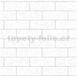Vliesové tapety na zeď bílá cihla s šedou spárou