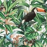 Vliesové tapety na zeď IMPOL Paradisio 2 fauna a flora na krémovém podkladu