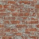 Vliesové tapety na zeď Imitations cihlová stěna červená