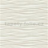Vliesové tapety na zeď Freestyle vlnovky vodorovné hnědé