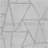 Vliesové tapety na zeď Exposure vápencové obklady šedé se stříbrnými švy