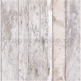 Vliesové tapety na zeď Exposure dřevěné desky s patinou hnědé