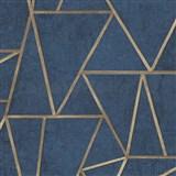 Vliesové tapety na zeď IMPOL Exposure SOHO modré se zlatými švy