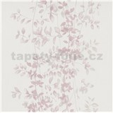 Vliesové tapety na zeď G.M.K. Fashion for walls popínavé lístky růžové na krémovém podkladu