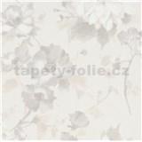 Vliesové tapety na zeď G.M.K. Fashion for walls květy šedo-hnědé na krémovém podkladu