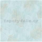 Vliesové tapety na zeď G.M.K. Fashion for walls palmové listy zlaté na modrém podkladu