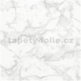 Vliesové tapety na zeď Felicita mramor Carrara šedý matný