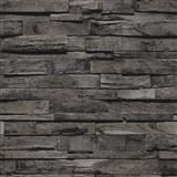 Vliesové tapety na zeď IMPOL Finesse 3D dřevo černohnědé