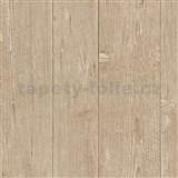 Vliesové tapety na zeď IMPOL Finesse dřevo hnědé