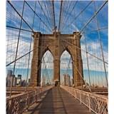 Vliesové fototapety Brooklyn Bridge rozměr 225 cm x 250 cm