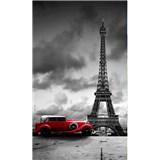 Vliesové fototapety retro vůz v Paříži rozměr 150 cm x 250 cm