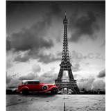 Vliesové fototapety retro vůz v Paříži rozměr 225 cm x 250 cm