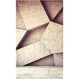Vliesové fototapety 3D geometrické tvary rozměr 150 cm x 250 cm