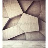 Vliesové fototapety 3D geometrické tvary rozměr 225 cm x 250 cm