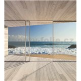 Vliesové fototapety výhled na záliv rozměr 225 cm x 250 cm