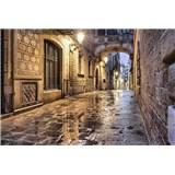 Vliesové fototapety starobylé ulice rozměr 375 cm x 250 cm