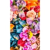Vliesové fototapety vintage květy rozměr 150 cm x 250 cm