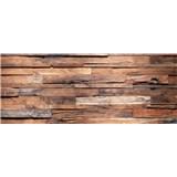 Vliesové fototapety dřevěná stěna rozměr 375 cm x 150 cm