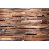 Vliesové fototapety dřevěná stěna rozměr 375 cm x 250 cm