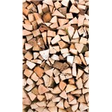 Vliesové fototapety dřevěné špalky rozměr 150 cm x 250 cm