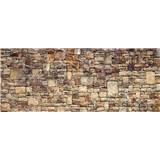 Vliesové fototapety kamenná stěna rozměr 375 cm x 150 cm