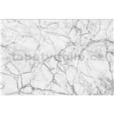 Vliesové fototapety mramor bílý rozměr 375 cm x 250 cm