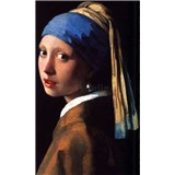 Vliesové fototapety Dívka s perlou - Johannes Vermeer rozměr 150 cm x 250 cm