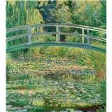 Vliesové fototapety Water lily pond - Calude Oskar Monet rozměr 225 cm x 250 cm
