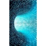 Vliesové fototapety binární proud rozměr 150 cm x 250 cm