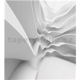 Vliesové fototapety futuristické vlny rozměr 225 cm x 250 cm