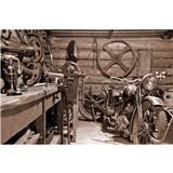 Vliesové fototapety Vintage garáž rozměr 375 cm x 250 cm