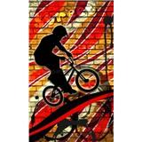 Vliesové fototapety bicycle red rozměr 150 cm x 250 cm