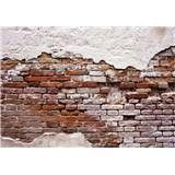 Vliesové fototapety stará cihlová zeď rozměr 368 cm x 254 cm