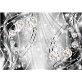 Vliesové fototapety 3D brilianty s vlnovkami rozměr 368 cm x 254 cm