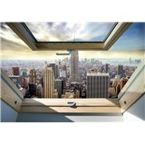 Vliesové fototapety New York Manhattan pohledem ze střešního okna rozměr 368 cm x 254 cm