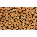 Fototapety dřevěné špalky rozměr 368 cm x 254 cm