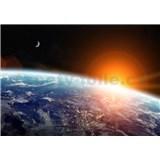 Vliesové fototapety pohled na Zemi z vesmíru rozměr 368 cm x 254 cm