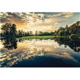 Vliesové fototapety odraz nebe v jezeře rozměr 368 cm x 254 cm