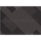 Vliesové fototapety geometrický vzor černo bílý rozměr 208 x 146 cm - POSLEDNÍ KUS