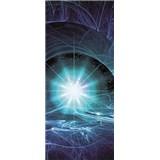 Vliesové fototapety modrý vesmírný Twist rozměr 91 cm x 211 cm