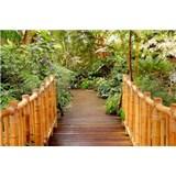 Vliesové fototapety most do zahrady