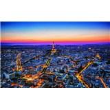 Fototapety Paříž v noci rozměr 368 cm x 254 cm