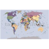 Vliesové fototapety mapa světa rozměr 152,5 cm x 104 cm