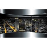 Fototapety 3D výhled na město rozměr 368 cm x 254 cm