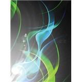 Vliesové fototapety abstrakce zelená rozměr 206 cm x 275 cm