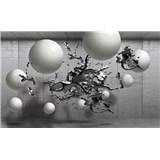 Vliesové fototapety 3D abstrakt a koule rozměr 104 cm x 70,5 cm