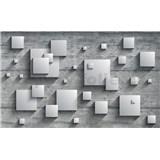 Vliesové fototapety 3D čtverce rozměr 104 cm x 70,5 cm