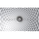 Fototapety 3D abstrakce šedo-bílá rozměr 254 cm x 184 cm