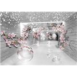 Vliesové fototapety 3D abstraktní koridor rozměr 368 cm x 254 cm