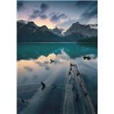 Vliesové fototapety Hefele svítání u jezera, rozměr 200 cm x 280 cm